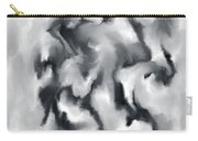 The Witch With Her Crows Charcoal Wash Carry-all Pouch