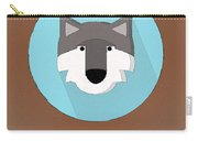 The Wolf Cute Portrait Carry-all Pouch