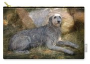 The Wolfhound  Carry-all Pouch by Fran J Scott