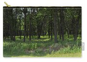 The Woods And The Road From The Series The Imprint Of Man In Nature Carry-all Pouch