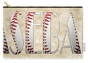 The Word Is Baseball Carry-all Pouch by Andee Design