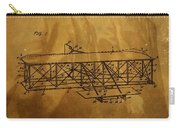 The Wright Brothers Airplane Patent Carry-all Pouch