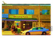 The Yangtze Chinese Food Restaurant On Van Horne Montreal Memories Cafe Street Scene Carole Spandau  Carry-all Pouch