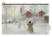 The Yard And Wash House Carry-all Pouch by Carl Larsson