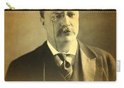 Theodore Teddy Roosevelt Portrait And Signature Carry-all Pouch