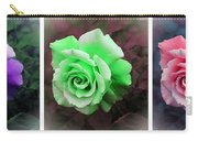 There Were Roses Triptych Carry-all Pouch