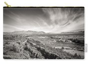 Thingvellir Iceland Black And White Carry-all Pouch