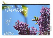 Thinking Of You - Greeting Card - Lilacs Carry-all Pouch