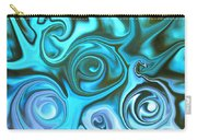 Turquoise  - Satin Swirls Carry-all Pouch