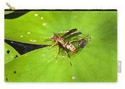 Thirsty Bee On Waterlily Carry-all Pouch