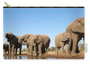 Thirsty Elephant Herd Carry-all Pouch