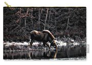 Thirsty Moose Impressionistic Digital Painting Carry-all Pouch