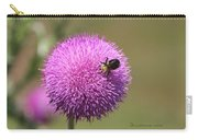 Thistle And A Bee Carry-all Pouch