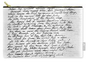 Thomas Gray: Elegy, 1750 Carry-all Pouch