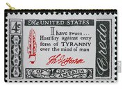 Thomas Jefferson American Credo Vintage Postage Stamp Print Carry-all Pouch