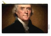 Thomas Jefferson By Rembrandt Peale Carry-all Pouch by Bill Cannon