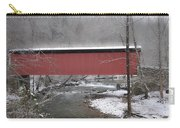Thomas Mill Covered Bridge Along The Wintery Wissahickon Carry-all Pouch