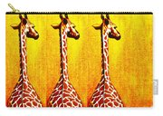 Three Amigos Giraffes Looking Back Carry-all Pouch
