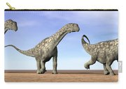 Three Argentinosaurus Dinosaurs Carry-all Pouch by Elena Duvernay