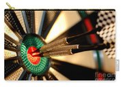 Three Arrows In The Centre Of A Dart Board Carry-all Pouch