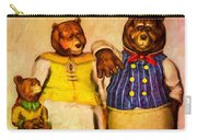 Three Bears Family Portrait Carry-all Pouch
