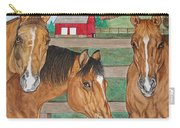 Three Beautiful Horses Carry-all Pouch