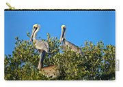 Three Brown Pelicans Carry-all Pouch