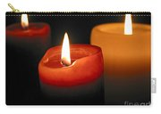 Three Burning Candles Carry-all Pouch by Elena Elisseeva