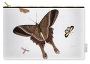 Three Butterflies And A Gnat Carry-all Pouch