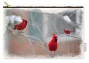 Three Cardinals In A Tree Carry-all Pouch