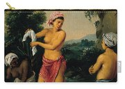 Three Caribbean Washerwomen By A River Carry-all Pouch