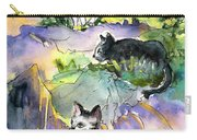 Three Cats On The Penon De Ifach Carry-all Pouch