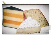 Three Cheese Wedges Distressed Carry-all Pouch