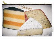 Three Cheese Wedges Distressed Text Carry-all Pouch