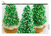 Three Christmastree Cupcakes  Carry-all Pouch