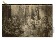 Three Crucifixes Carry-all Pouch by Rembrandt Harmenszoon van Rijn