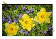 Three Daffodils In Blooming Periwinkle Carry-all Pouch