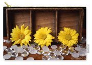 Three Daisy Shadowbox Carry-all Pouch
