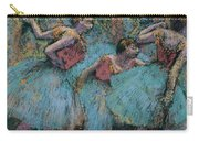 Three Dancers.blue Tutus Red Bodices Carry-all Pouch