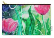 Three Dancing Tulips Carry-all Pouch