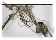Three Dimensional View Of Female Spine Carry-all Pouch by Stocktrek Images