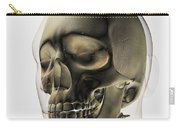 Three Dimensional View Of Human Skull Carry-all Pouch by Stocktrek Images