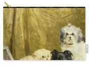 Three Dogs Carry-all Pouch by Charles van den Eycken