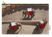 Three Elephants At Amber Fort Carry-all Pouch