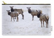 Three Elk Cows And Calf Carry-all Pouch