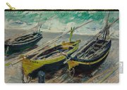 Three Fishing Boats Monet 1886 Carry-all Pouch