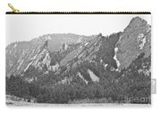 Three Flatirons Boulder Colorado Black And White Carry-all Pouch