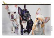 Three Frenchie Puppies Carry-all Pouch by Jane Schnetlage