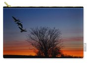 Three Geese At Sunset Carry-all Pouch