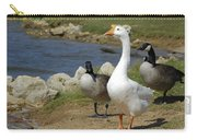 Three Geese Just Srolling Along Carry-all Pouch